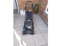 Heyter R53s recycling petrol lawnmower.