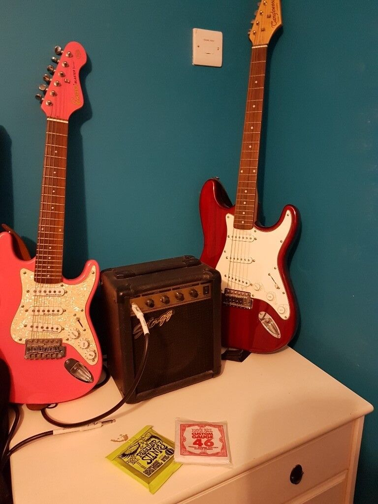 76910269175 2 Guitars plus amp, leads, strap and soft case | in Belfast City Centre ...