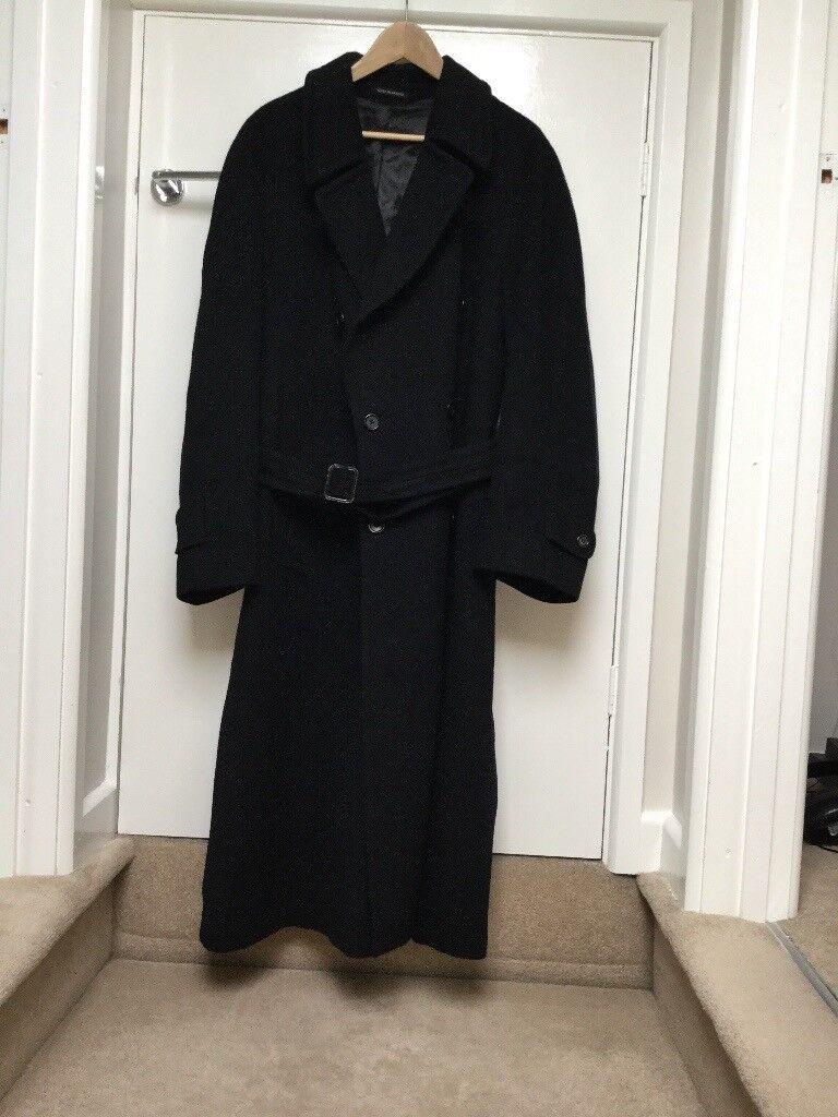 Mans Black Cashmere Coat