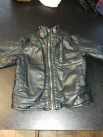 18-24mth black leather jacket Dunnes