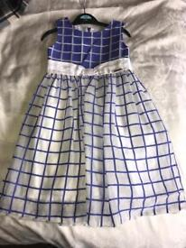 Girl's Mayoral Dress Blue and White