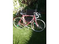 Red vintage french Decathalon racing bike 56cm