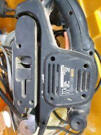 Loads of power tools drill, breaker, jigsaw, router, sander, planer