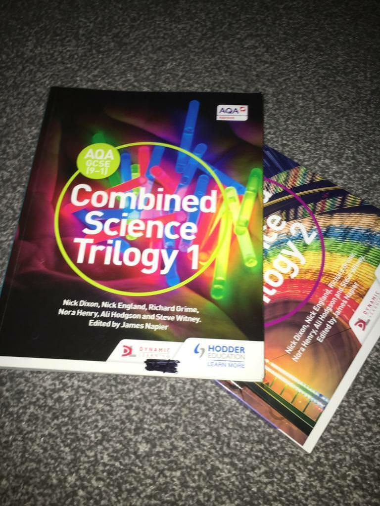6a78d867cb143 AQA Trilogy Science (chemistry biology and physics) 2 books RRP £30 each