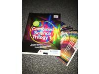 AQA Trilogy Science (chemistry biology and physics) 2 books RRP £30 each