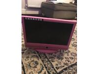 Next pink portable TV