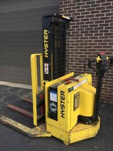 Hyster 30 Electric Lift Truck W30 Walkie Reach, Straddle, Counterbalance Stacker