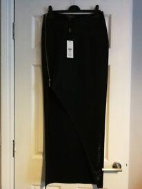 Black Shimmer Split Maxi Skirt. Lipsy. Size 10