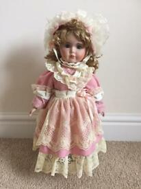 Victorian China doll-Pink dress