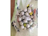 100 golf balls including Titleist, Callaway, Srixon, Nike Etc
