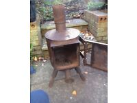 wood burner - large - custom built
