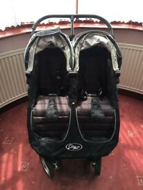 City stroller black. Double pushchair
