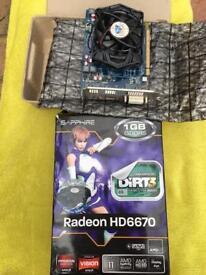 Video Card Sapphire Radeon HD6670 1GB GDDR5