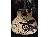 "Lauren 6-string acoustic guitar ""Bob Marley - Exodus Style"""