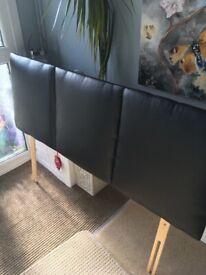 Black double headboard