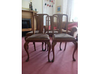 For Sale 4 Walnut Dining Chairs