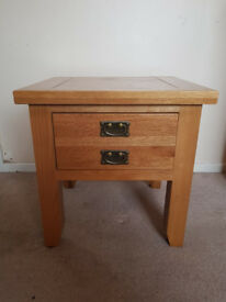 Solid Oak Side Table / Lamp Table