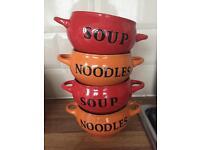 Le Creuset style soup/noodle bowls