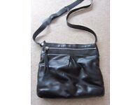 Ladies Black Faux Leather Cross Body Bag