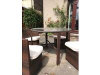 Plastic Rattan Table and Chair Set