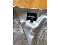 mens silver wedding waistcoat size m