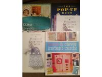 4 Lovely card craft making books in very good condition.