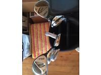 Left Handed Wilson Golf Clubs with Golf Bag