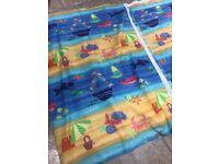 Custom made nursery bedroom curtains boys material seaside