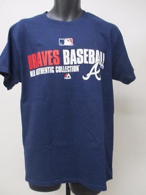 New Atlanta Braves Mens Youth Sizes S M L Xl 2Xl 3Xl 4Xl Majestic Shirt Msrp  24