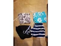 4 pairs mens swimming shorts