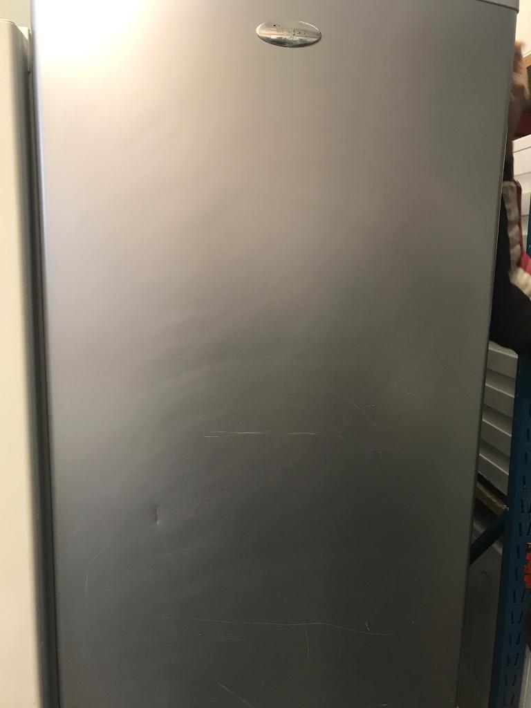 Whirlpool silver fridge freezer