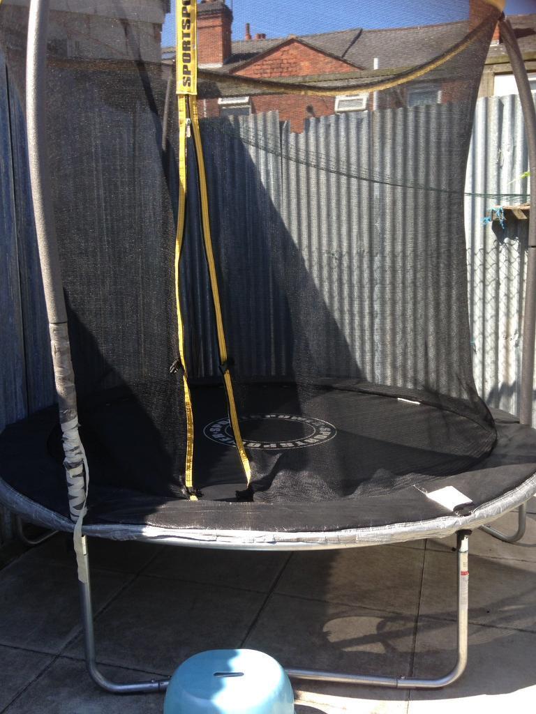 "Sportswear trampolinein Small Heath, West MidlandsGumtree - a very well condition 8"" trampoline including safety nets just buy last year"