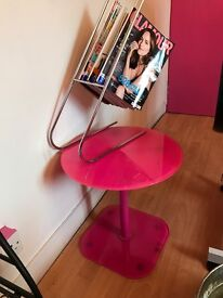 Side table and magazine rack