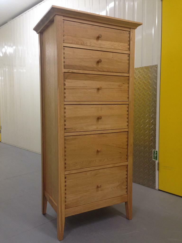 Willis Gambier Solid Oak Tallboy Chest Of Drawers Sideboard John Lewis Habitat Laura Ashley Loaf