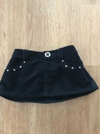 Build a Bear Workshop BABW Black Cord Skirt in Excellent Condition