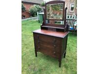 1940s oak dressing chest (can deliver)