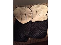 Mothercare delux quilted footmuffs superb quality hardly used fit most buggies