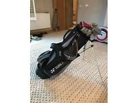 Full set of Rogue irons, odyssey putter and yonex golf bag