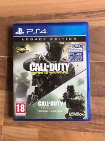 Call of duty infinite warfare (mw not included) with extra dlc , PS4 ! Price stands , no offers !