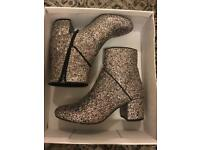 Glitter boots size 4