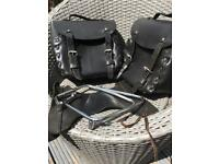 Pannier Set Leather Complete