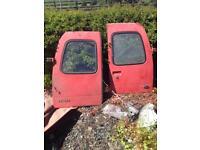 Escort van rear doors