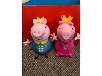 Peppa and George pig teddies