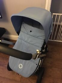 Bugaboo colour pack and footmuff ice blue
