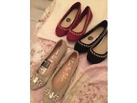 Women's flat shoes wide fit dolly shoes women's flat pumps