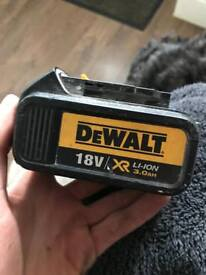 Dewalt 18v battery soared and repairs