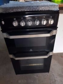 Gas cooker, indesit, black almost new