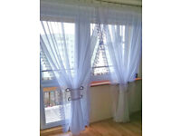 Ready made Net curtains - French/Patio Doors - Voiles / Voile / Firany / Firanki / New