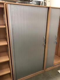 Beech Tambour Cabinet 950MM (W) 520MM (D) 1840MM (H)