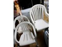 Garden chairs 4 in total